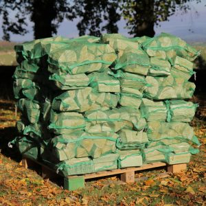 netted hardwood log